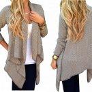 Loose Casual Crochet Long Sleeve Knit Cardigan Coat Knitwear Sweater