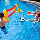 Water Inflatable Football Gate Swimming Paddling Pool Football Goal Paddling Pool Football