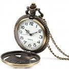 Vintage Hollow PARIS Letters Eiffel Tower Pattern Unisex Pocket Watch