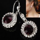 Circle Crystal Earrings Ear Clip Women Jewelry