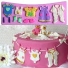 3D Baby Clothes Silicone Fondant Mould Cake Decorating Chocolate Mold Cute
