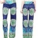 Women Vintage Floral Print Wide Leg Trousers