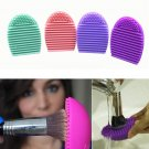 2pcs Silicone Cleaning Cosmetic Makeup Brush Gel Cleaner Scrubber Tool Foundation