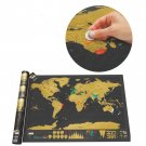 Black Luxury Scratch World Map Cylinder Packing Home Decor Gift