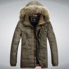 Men Winter Down jacket Protective Cold Windproof Hooded Coat