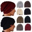Unisex Winter Warm Skull Knit Beanie Cap Dual Wearable Men Women Riding Skiing Hat