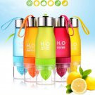650ml H20 Water Bottle Portable Juice Lemon Fruit Infuser Cup
