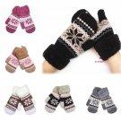 Lady Winter Pure Manual Weaving Warm Snow Wool Gloves