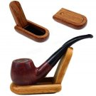 Portable Foldeable Wood Holder For Smoking Pipe