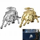 Car Chrome Metal 3D Bull Ox Decal Emblem Badge Truck Auto Motor Sticker
