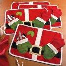 Chritmas Xmas Santa Clua Table Placemat Cover Tableware Mat