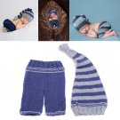 Newborn Baby Cotton Wool Crochet Knit Cap Costume Photography Props Outfit
