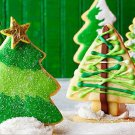 2pcs Stainless Steel Christmas Tree Cookie Cutter Mold