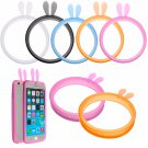 Universal Rabbit Bumper Case Fluorescent Protective Silicone Bracelet For Mobile Phone