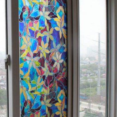 Static Window PVC Films Window Decals Non-glue Fork Art Glass Bathroom