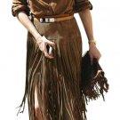 Tassel Split Straight Suede High Waist Zipper Skirt Mini Dress