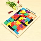 Colorful Wooden Brain Teaser Puzzle For Kids