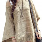 Casual Tassel Hollow Out Batwing Sleeve Loose Sweater