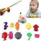 Kids Magnetic Fishing Toy Rod Model Net 10 Fish