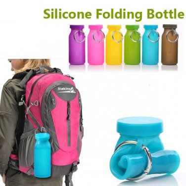 Colorful Silicone Folding Bottle Cup Camping Hiking Riding Bottles
