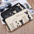 Long Wallet Girls Cute Animal Long Zipper Purse Card Holder