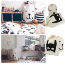 Toys Storage Bags Canvas Cute Bear Batman Laundry Bag Pouch