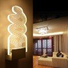 Creative Modern Acrylic Snake Shape LED Wall Lamp for Living Room Bedroom Corridor
