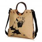 Women Canvas National Wind Handbag Crossbody Bag