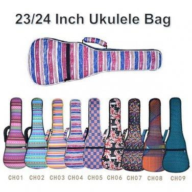 23/24 Inch Ukulele Cotton Colorful Bag Double Shoulder Bag