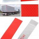 20Pcs/Pack Safety Vehicle Body Reflective Sticker Red-white