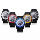 Unisex Sport Black Round Back Light Quartz Wrist Watch