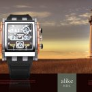 ALIKE AK1057 Sport Black Square Quartz Watch