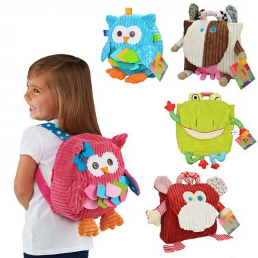 Backpack Child Animal Plush Package Snap Toys Bag