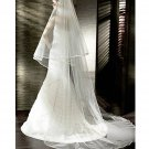 3 Metres Two Layers Long Wedding Veil Comb Soft Tulle Cut Edge Cathedral Bride Accessories
