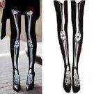 Halloween Skeleton Bone Printed Pants Tights Pantyhose Leggings