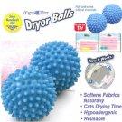 2 Pcs Washing Laundry Dryer Ball No Chemicals Soften Cloth Drying Fabric