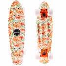 Orange Peony Skateboard Non-Slip Flying Fish Skateboard Longboard