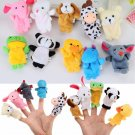 10pcs Animal Finger Puppets Toys