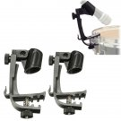 2PCS Adjustable Drum Stand Microphone Clamp Holder