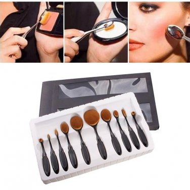 10pcs Toothbrush Shape Foundation Power Makeup