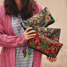 Women Ethnic Butterfly Flower Embroidered Wallet Bag