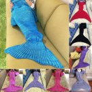Comfortable Warm Soft Knitting Mermaid Tail Blanket