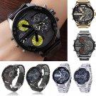 Men's Fashion Luxury Stainless Steel Analog Quartz Wristwatches