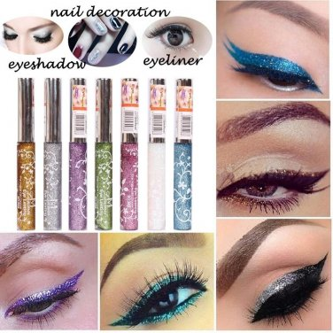1PCS Shiny Glitter Waterproof Liquid Eyeliner Makeup