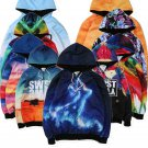 Stylish Outerwear Men 3D Graphic Print Hoodie Zipper Sweater Jacket