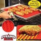Non-Stick Silicone Pyramid Baking Mat For Microwave Cooking Pan Oven Baking Tray