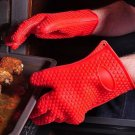 Thick Silicone Heat Resistant Grilling Antiskid Protective Gloves