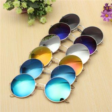 Unisex Casual Retro Large Round Metal Frame Film Sunglasses