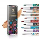 10Pcs Women Smokey Eyes Shimmer Pigments Eyeshadow Pencil Easy to Wear Waterproof Long Lasting Matte