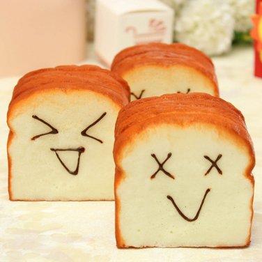 Jumbo Squishy Happy Slice Toast Slow Raising Cellphone Holder